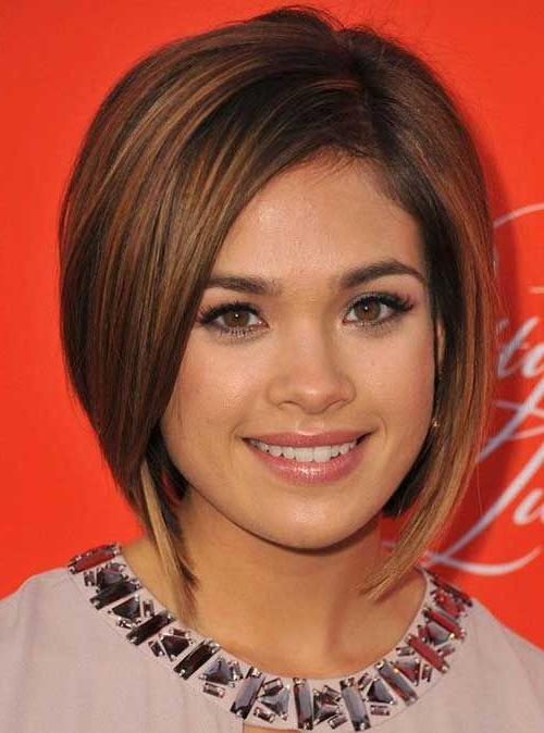 Pin On Cute Hair in Classic Asymmetrical Hairstyles For Round Face Types