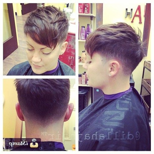 Pin On For My Love?? With Tapered Pixie Boyish Haircuts For Round Faces (View 17 of 25)
