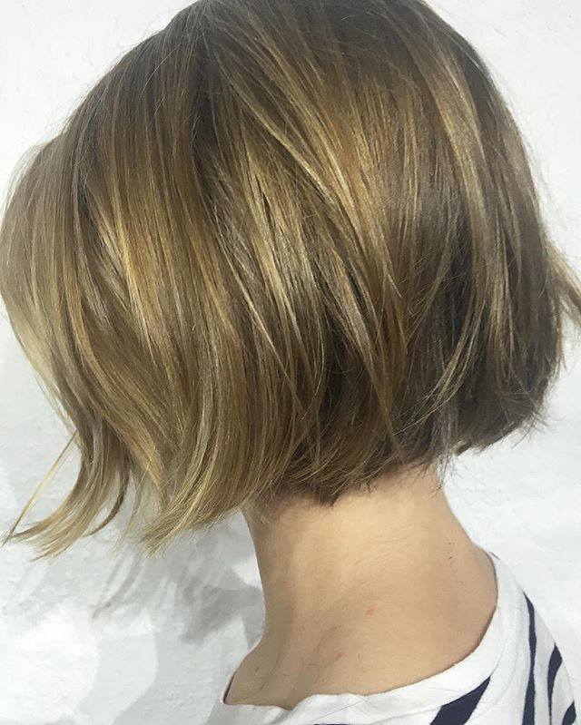 Pin On Hair for Simple Side-Parted Jaw-Length Bob Hairstyles