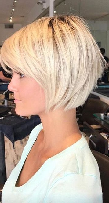 Pin On Hair pertaining to Shaggy Blonde Bob Hairstyles With Bangs