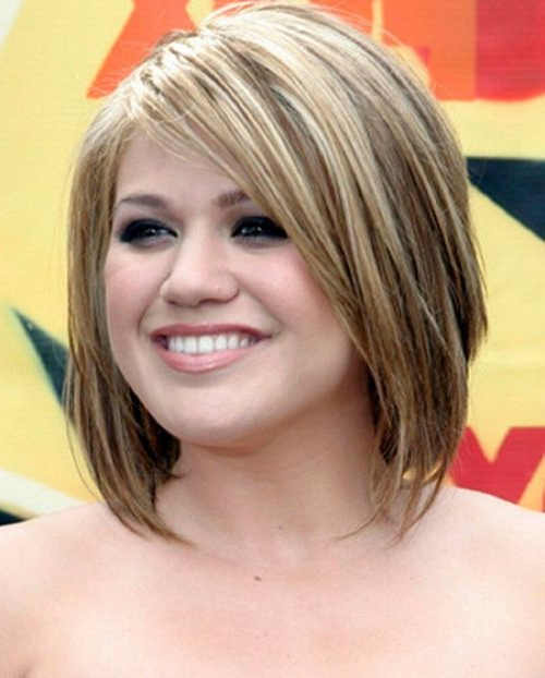 Pin On Hair regarding Color Highlights Short Hairstyles For Round Face Types