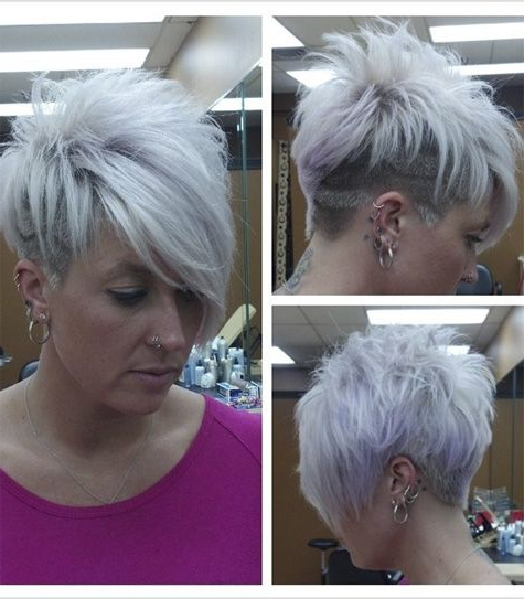 Pin On Hair Styles In Gray Pixie Haircuts With Messy Crown (View 4 of 25)