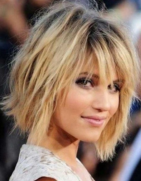 Pin On Hair with regard to Razored Shaggy Bob Hairstyles With Bangs