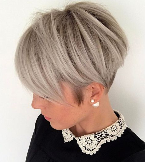Pin On Hair within Edgy Ash Blonde Pixie Haircuts