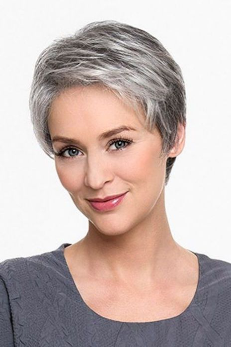 Pin On Hairstyles For Women Over 40 regarding Gray Pixie Haircuts With Messy Crown