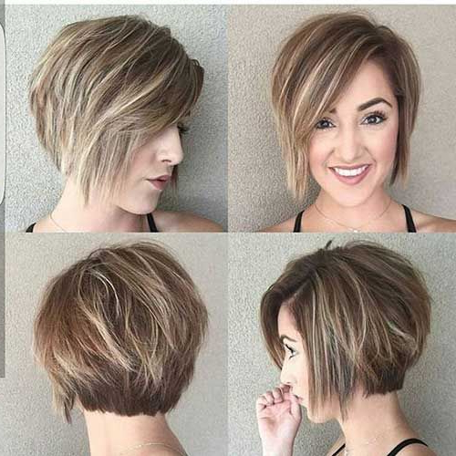 Featured Photo of Layered Short Hairstyles For Round Faces