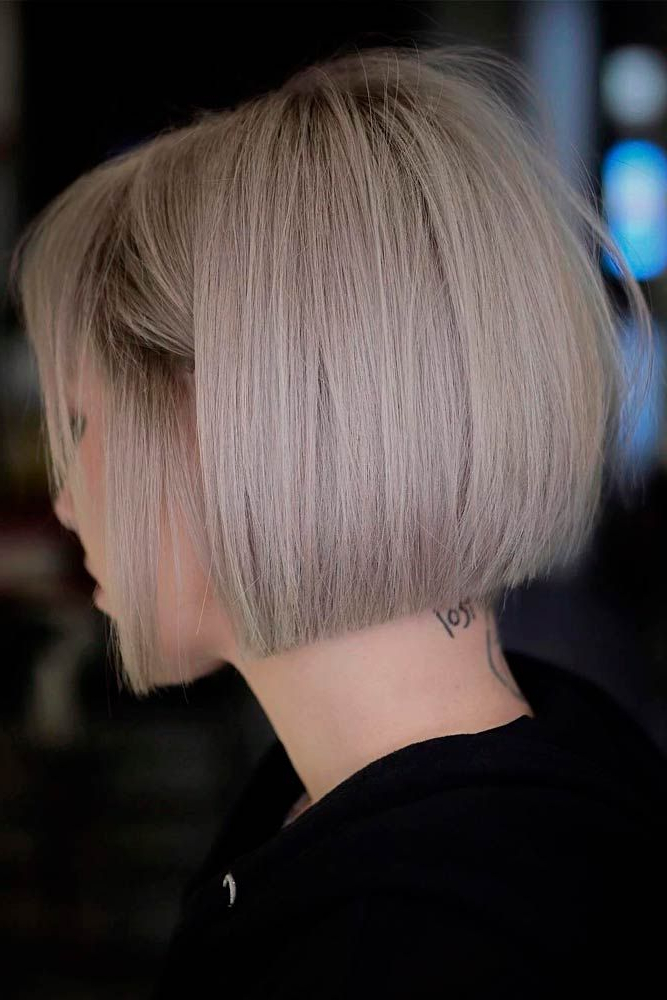 Pin On My Bob Hair intended for Edgy Ash Blonde Pixie Haircuts