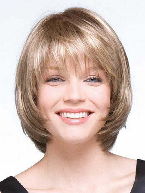 Pin On My Favorite Hair Styles And Color With Layered Short Hairstyles For Round Faces (View 19 of 25)