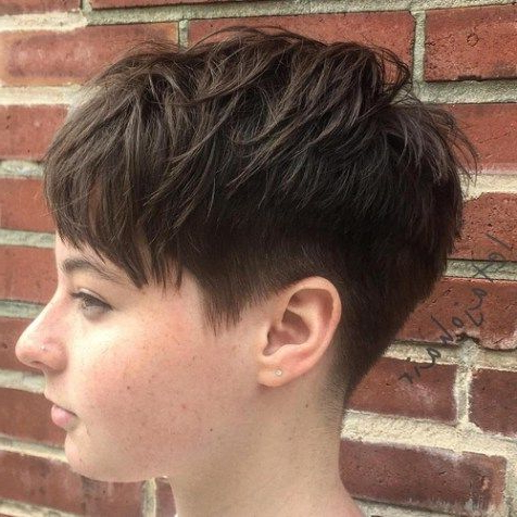 Featured Photo of Tapered Pixie Boyish Haircuts For Round Faces