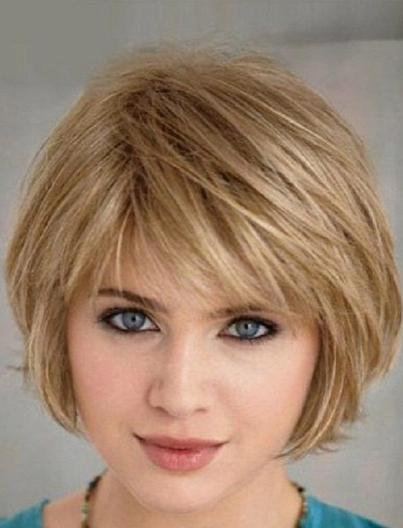 Pin On Shag throughout Color Highlights Short Hairstyles For Round Face Types