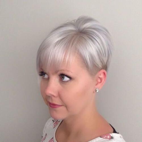 Pin On Silver And Grayish Hair inside Choppy Pixie Bob Hairstyles For Fine Hair