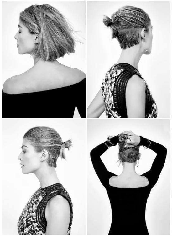 Rosamund Pike #minimal #minimalistgigi | Minimalist Gigi Throughout Minimalist Pixie Bob Haircuts (View 4 of 25)