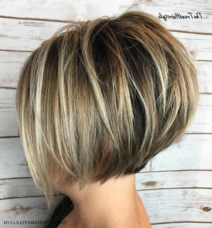 Shaggy Inverted Bob – 50 Trendy Inverted Bob Haircuts – The With Long Pixie Haircuts With Sharp Layers And Highlights (View 12 of 25)