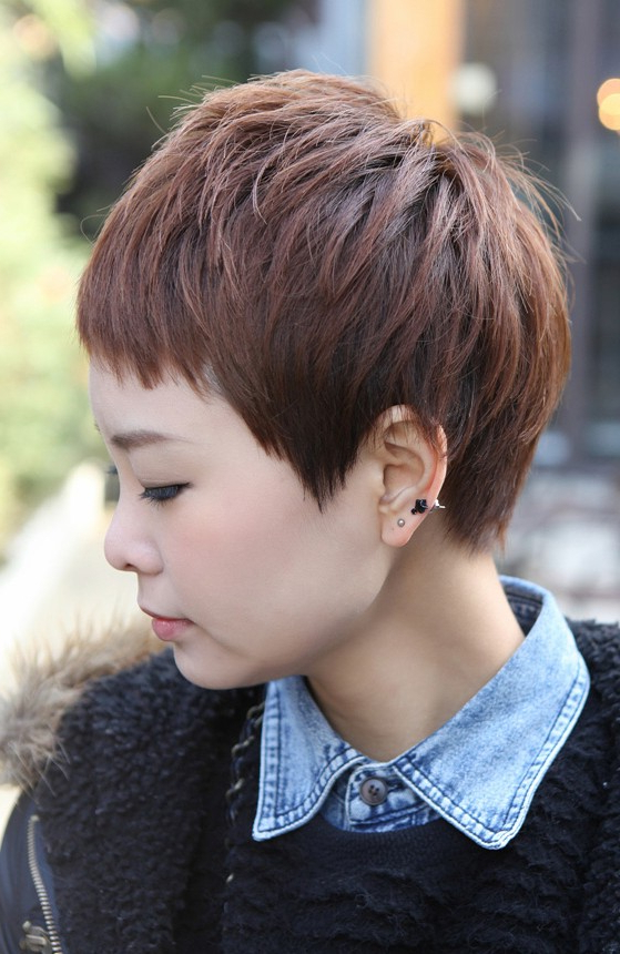 Sharp & Sexy 'rihanna' Pixie Cut – Boyish Asian Haircut For Inside Tapered Pixie Boyish Haircuts For Round Faces (View 11 of 25)