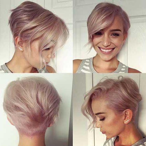 Short Haircuts For Round Faces 14 – Hairstyles Fashion And Regarding Pixie Haircuts For Round Faces (View 5 of 25)