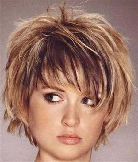 Short Hairstyles For Round Faces 7 – Hairstyles Fashion And In Layered Short Hairstyles For Round Faces (View 8 of 25)