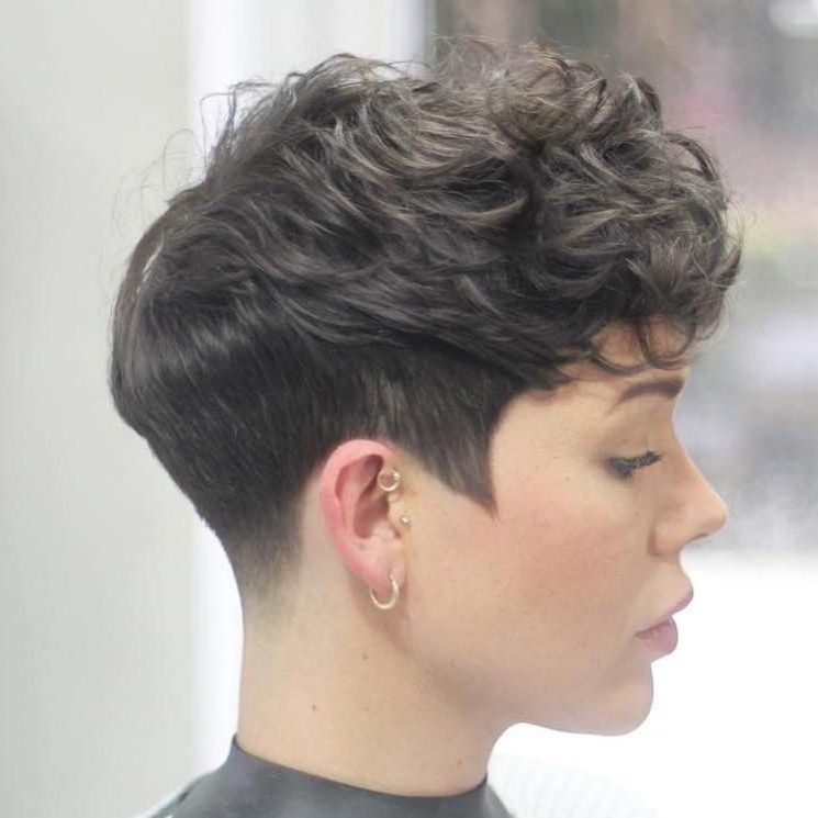 Tapered Pixie For Curly Hair | Pixie Haircut For Thick Hair In Tapered Pixie Boyish Haircuts For Round Faces (View 2 of 25)
