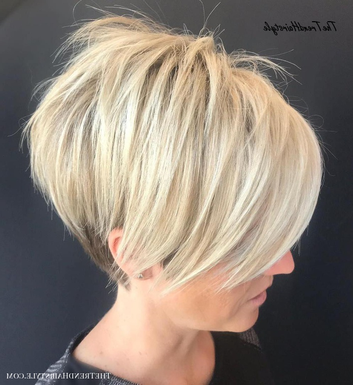 Tapered Pixie With Long Bangs – Pixie Haircuts With Bangs Regarding Minimalist Pixie Bob Haircuts (View 13 of 25)