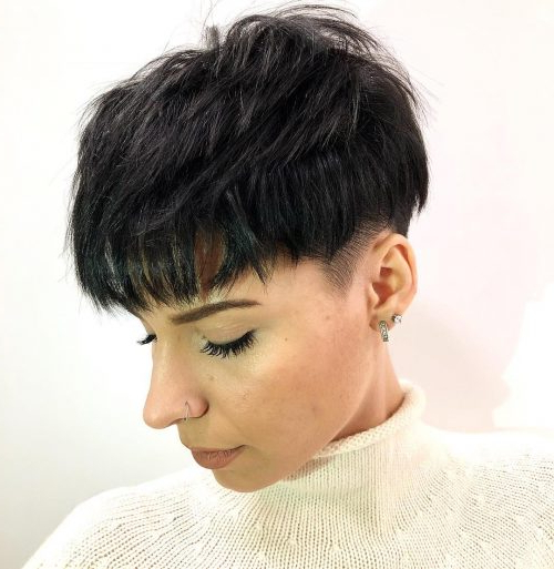 The Short Pixie Cut – 42 Great Haircuts You'll See For 2019 Inside Pixie Haircuts With Tapered Sideburns (View 17 of 25)