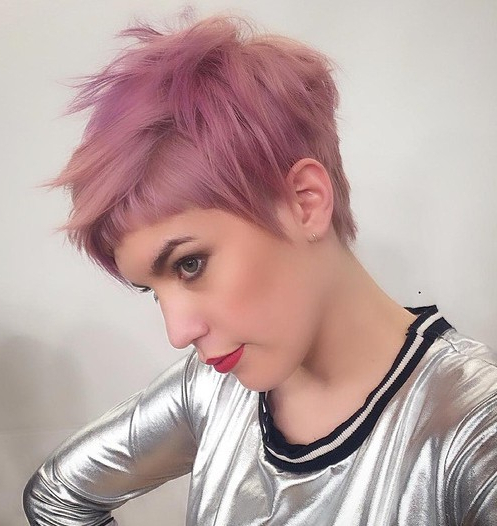 Top 18 Short Hairstyle Ideas – Popular Haircuts Regarding Messy Spiky Pixie Haircuts With Asymmetrical Bangs (View 8 of 25)