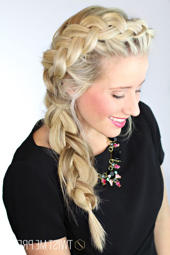 Featured Photo of Three Strand Long Side Braid Hairstyles