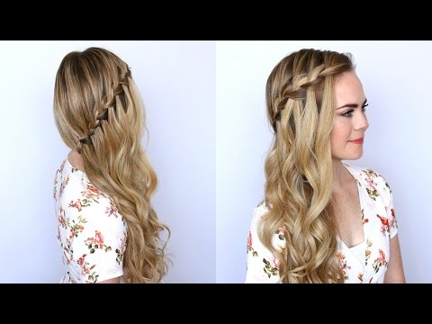 10 Easy Waterfall Braids You Can Do At Home – The Trend Spotter Intended For Most Current High Waterfall Braid Hairstyles (View 10 of 25)