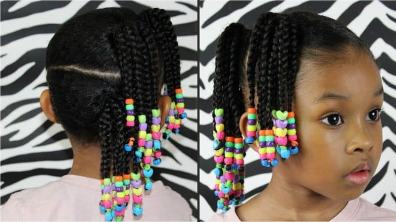 10 Elegant Little Girl Braids With Beads – Hairstylecamp With Most Up To Date Beaded Braids Hairstyles (View 9 of 25)