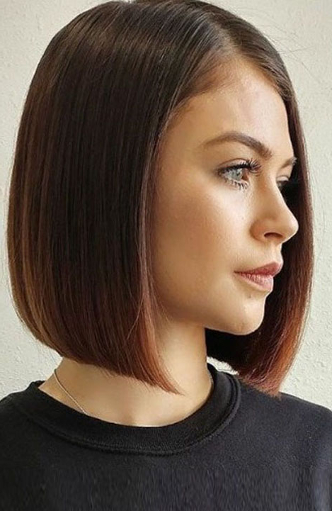 10 Trendy Blunt Cut Haircuts For Women – The Trend Spotter Throughout Sleek Blunt Bob Hairstyles (View 8 of 25)