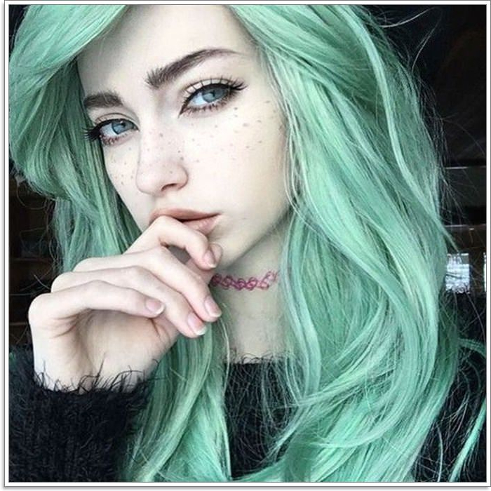 100 Gorgeous Hairstyles For Green Hair | Great Looks In Rich With Current Aqua Green Undercut Hairstyles (View 8 of 25)