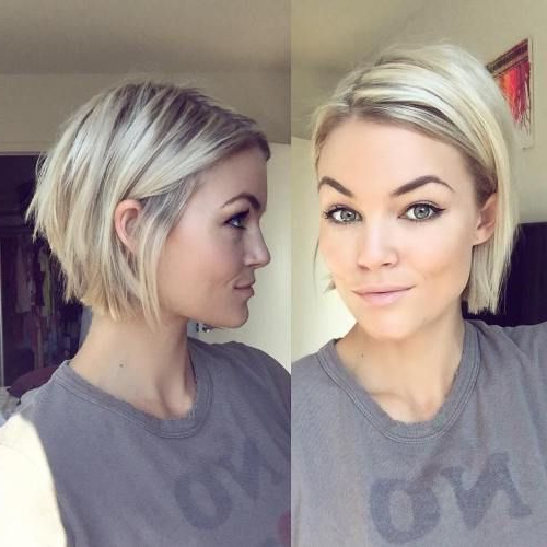 100 Mind Blowing Short Hairstyles For Fine Hair | Fine Hair With Jaw Length Short Bob Hairstyles For Fine Hair (View 2 of 25)