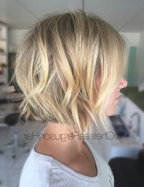 100 Mind Blowing Short Hairstyles For Fine Hair In 2019 Pertaining To Texturized Tousled Bob Hairstyles (View 5 of 25)