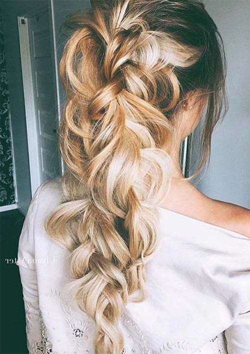 100 Ridiculously Awesome Braided Hairstyles To Inspire You Regarding Current Loosely Tied Braid Hairstyles With A Ribbon (View 22 of 25)