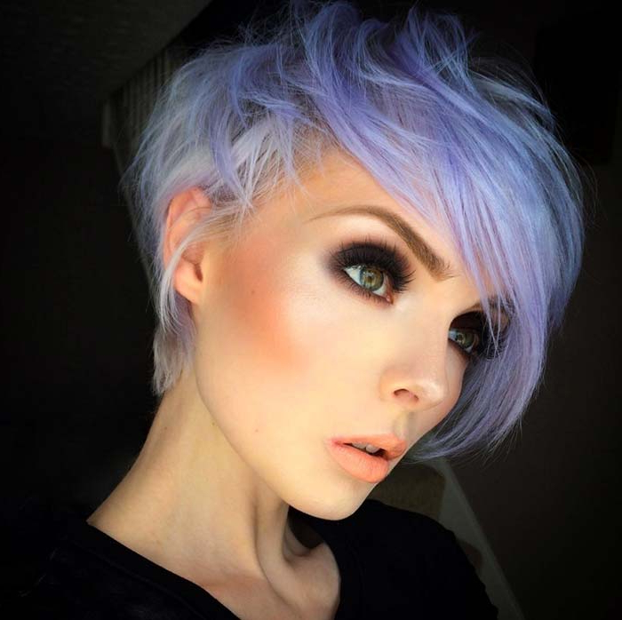 100 Short Hairstyles For Women: Pixie, Bob, Undercut Hair Inside Most Current Smokey Pastel Colors Pixie Haircuts (View 12 of 25)
