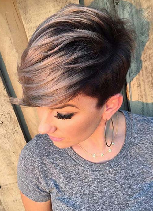 100 Short Hairstyles For Women: Pixie, Bob, Undercut Hair Regarding Most Popular Smokey Pastel Colors Pixie Haircuts (View 16 of 25)