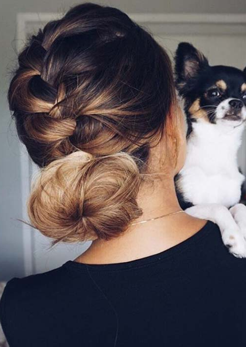 100 Trendy Long Hairstyles For Women To Try In 2017 Inside Most Recently Plaited Low Bun Braid Hairstyles (View 18 of 25)