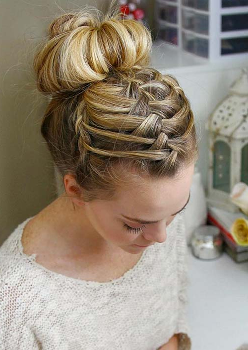 100 Trendy Long Hairstyles For Women To Try In 2017 Regarding Most Recent Modern Braided Top Knot Hairstyles (View 11 of 25)