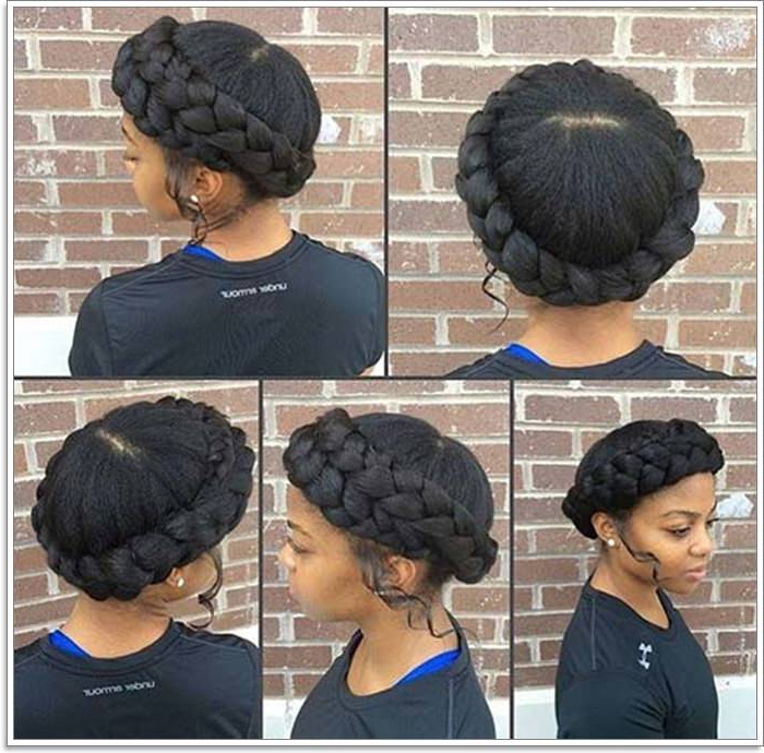 101 Extraordinary Halo Braids That Will Make You Feel Like A Throughout Recent Braided Halo Hairstyles (View 6 of 25)