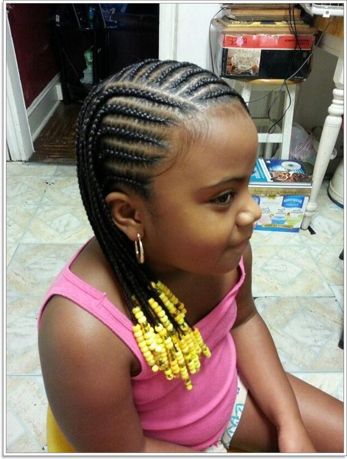103 Adorable Braid Hairstyles For Kids Pertaining To Most Current Beaded Braids Hairstyles (View 17 of 25)