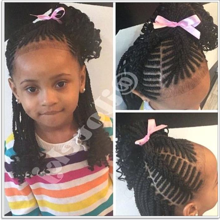 103 Adorable Braid Hairstyles For Kids With Regard To Most Up To Date Baby Pink Braids Hairstyles (View 17 of 25)