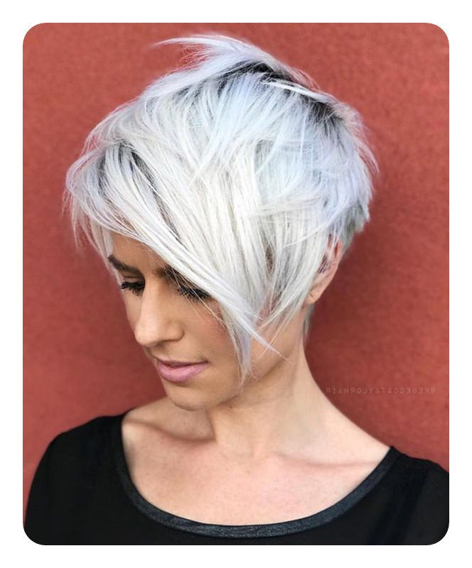 104 Long And Short Grey Hairstyles 2020 – Style Easily Throughout Most Recently Smokey Pastel Colors Pixie Haircuts (View 21 of 25)