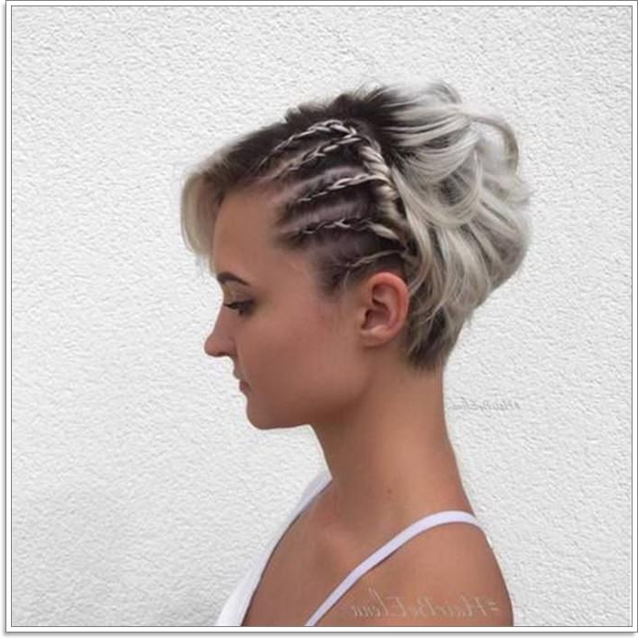 104 Outstanding Updos For Short Hair That Looks Totally Pertaining To Newest Crisp Pulled Back Braid Hairstyles (View 4 of 25)