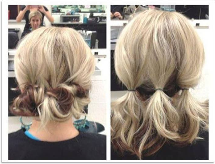 104 Outstanding Updos For Short Hair That Looks Totally With Regard To Current Crisp Pulled Back Braid Hairstyles (View 13 of 25)