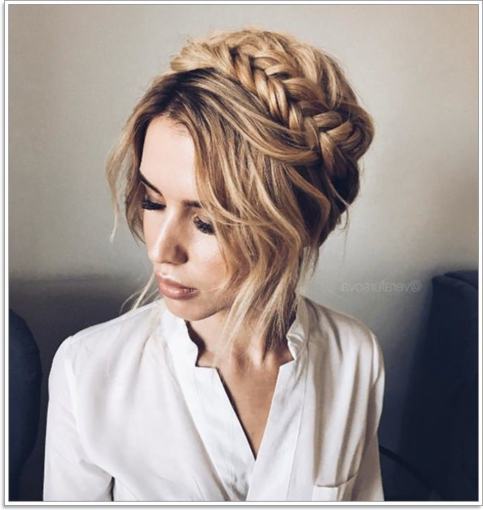 105 Stunning Halo Braid For All Kind Of Event – Style Easily Throughout Latest Updo Halo Braid Hairstyles (View 20 of 25)