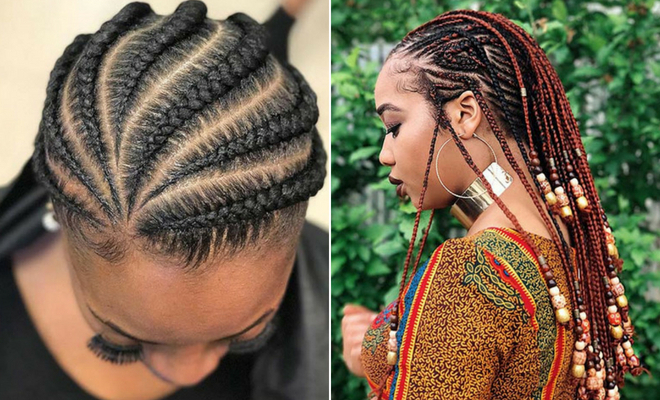 109 Protective African Braids For Hot Seasons | Mixmatchfashion In Most Up To Date Metallic Side Cornrows Hairstyles (View 8 of 25)