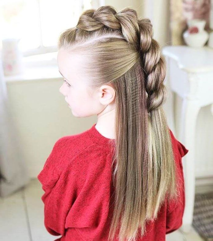 11 Simple Easy Little Girl Hairstyles | Braided Hairstyles For Current Loosely Tied Braid Hairstyles With A Ribbon (View 16 of 25)