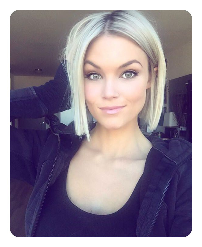 112 Best Blunt Bob Hairstyles For The Year 2020 – Style Easily In Sleek Blunt Bob Hairstyles (View 10 of 25)
