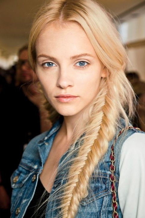 12 Simple Fishtail Braid Hairstyles – Pretty Designs With Regard To Current Messy Side Fishtail Braid Hairstyles (View 16 of 25)