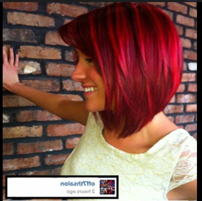 12 Stylish Red Bobs To Try For The New Season | Hair Styles With Regard To Bright Red Bob Hairstyles (View 3 of 25)