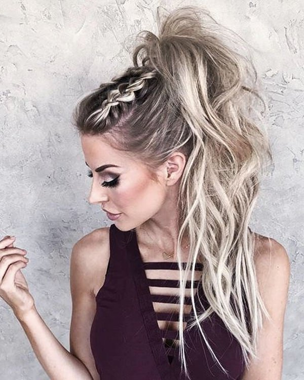 120 Versatile Braided Ponytail Styles | Trendy To Intended For Most Recent Cornrow Fishtail Side Braid Hairstyles (View 10 of 25)