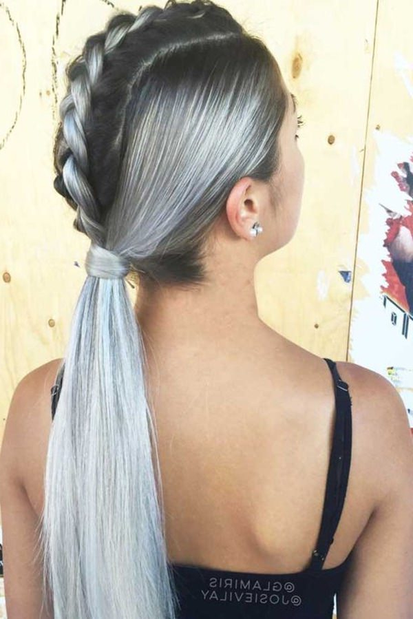 120 Versatile Braided Ponytail Styles | Trendy To Regarding Best And Newest Loosely Tied Braid Hairstyles With A Ribbon (View 19 of 25)